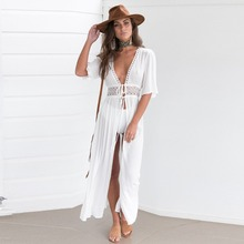 Puseky 2017 New Women Chiffon Floral Sexy Beach Cardigan Bikini Swimsuit Brazilian Cover Up Wrap Sun Shirt Long Blouse