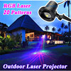 IP68 Waterproof Outdoor Christmas Lights RGB Laser Projector Moving Fireworm Effect New Year Christmas Star Light