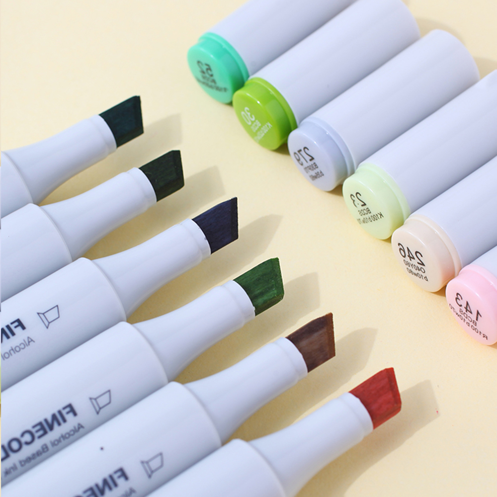 Image 3 - 72Pcs Set Finecolour Professional Sketch Alcohol Based Ink Marker Manga Double Headed Markers Pen For Drawing-in Art Markers from Office & School Supplies
