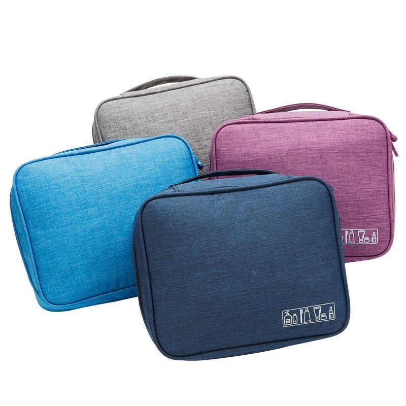 9e3cb75cb4f8 ... LDAJMW Women And Men Waterproof Oxford Makeup Bag Travel Cosmetic Bag  Storage Box Organizer Beautician Pouch ...