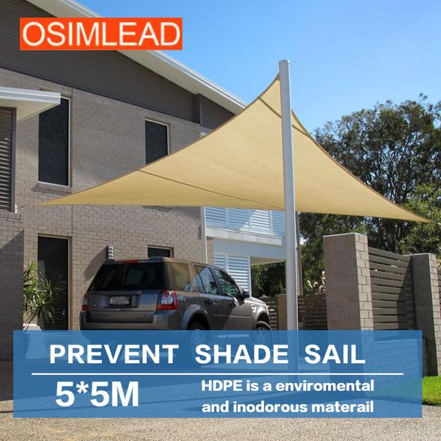 Sun sail shade shade proteção uv líquido, evitar aquecer as barracas, mantenha fora ultravioleta (uv) de 95%, 5*5 m