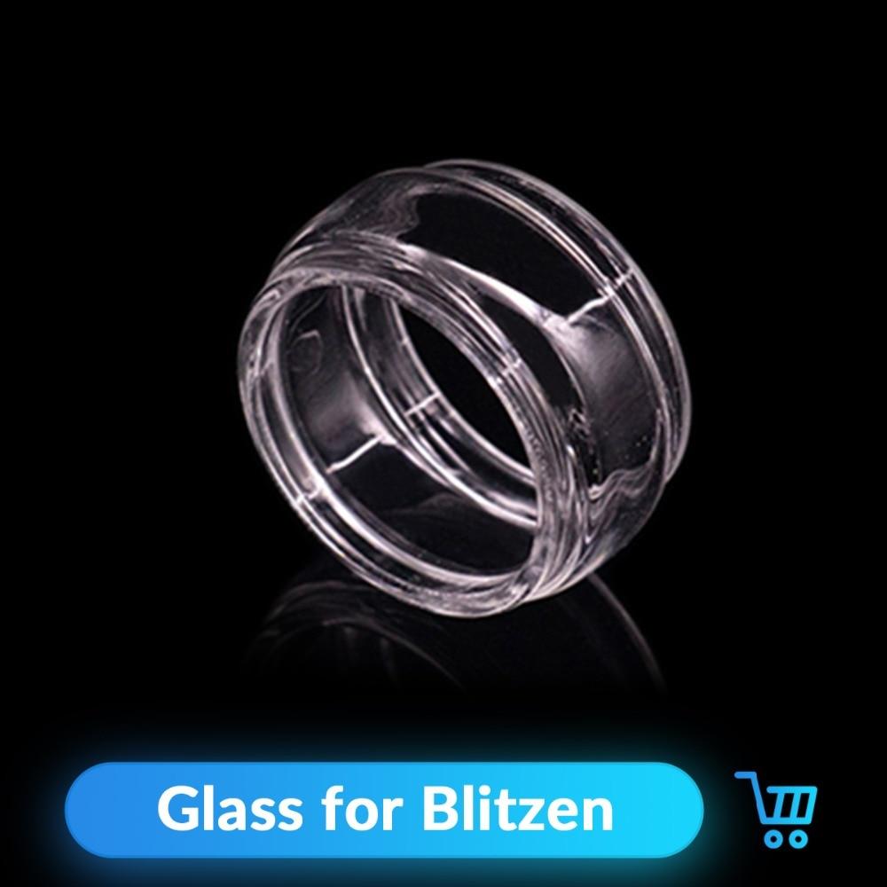 Volcanee 2pcs/lot Replacement Glass Tube 5ml Capacity For Blitzen RTA Atomizer E Cigarette Tank  Vape Accessories Blitzen Glass