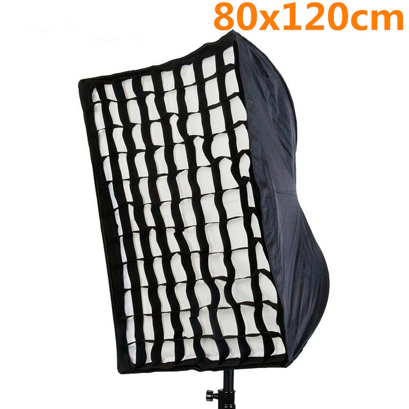 Photo Studio 80x120 cm parapluie Softbox diffuseur réflecteur + grille nid d'abeille photographie boîte à lumière boîte souple pour Flash Speedlite