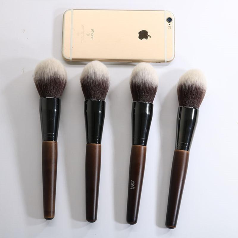 1pcs Big Beauty Powder Brush Blush Foundation Round Make Up Large Cosmetics Aluminum Brushes Soft Face Makeup YA138 in Eye Shadow Applicator from Beauty Health