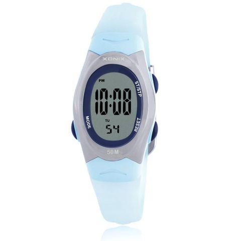 Relógio de Pulso Criança à Prova Precisão Digital Crianças Meninas Moda Bonito Rosa pu Strap 50 m d' Água Relógios Despertadores Cronômetro al Lcd