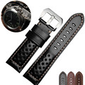 AOTU Vintage Genuine Calf Leather Watch Strap for Panerai Man 22/24/26mm Watch Band Bracelet Hand Strap Big Pin Clasp + Tools