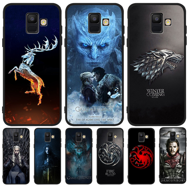 Game Thrones Daenerys Dragon Jon For Samsung Galaxy A9 A8 A7 A6 A5 A3 J3 J4 J5 J6 J8 Plus 2017 2018 phone Case Cover Coque Etui in Half wrapped Cases from Cellphones Telecommunications