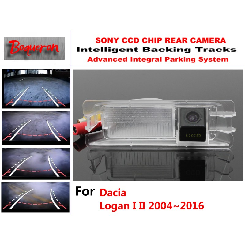 For Dacia Logan I II 2004~2016 Car Intelligent Parking Tracks Camera / HD Back up Reverse Camera / Rear View Camera for dacia duster 2010 2014 car intelligent parking tracks camera hd back up reverse camera rear view camera