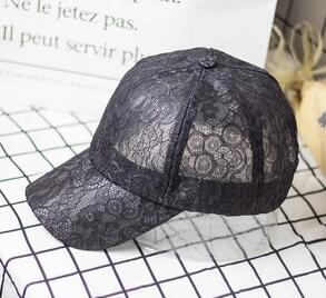 Apparel Accessories Competent 10pcs/lot Free Shipping Korean Style Woman Casual Sweet Lace Baseball Cap Solid Adjustable Womens Lace Outside Hat Diversified Latest Designs