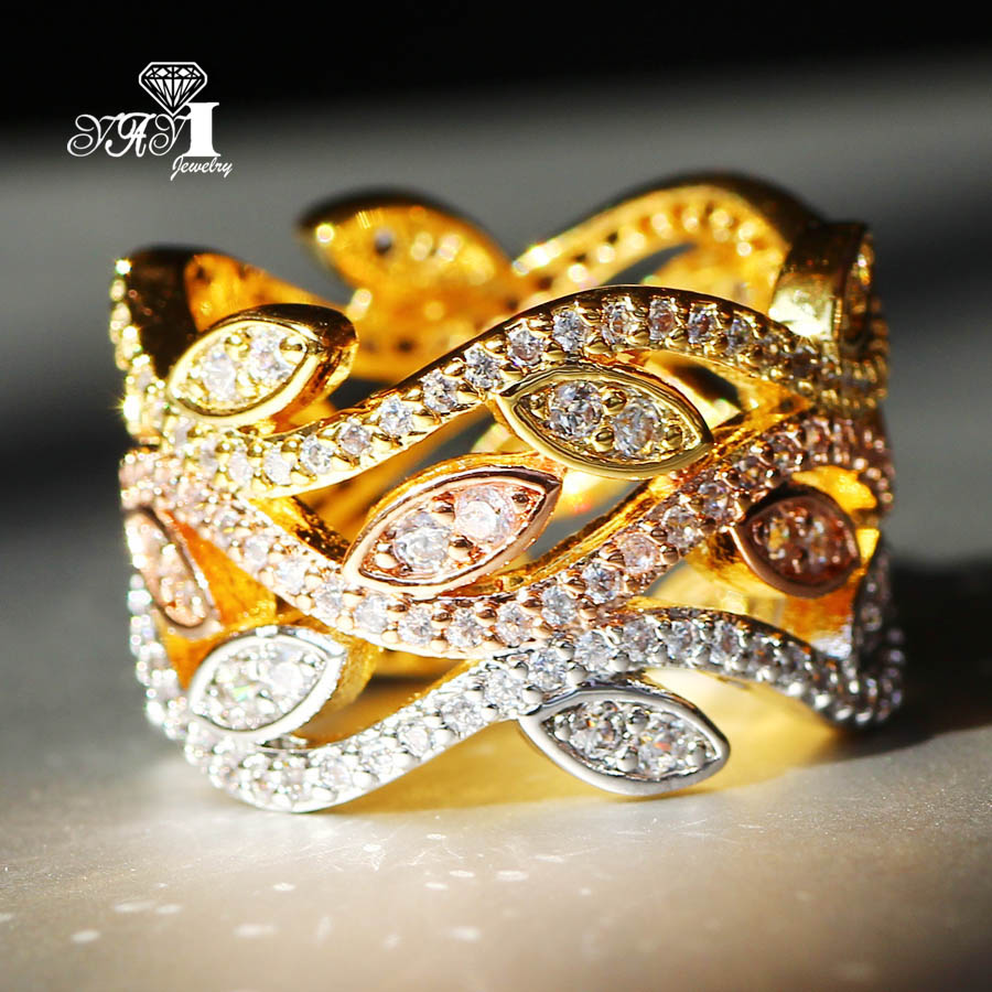 Hochzeits- & Verlobungs-schmuck Yayi Schmuck Mode Prinzessin Cut 4,2 Ct Weiß Zirkon Gold Farbe Verlobungsringe Hochzeit Partei Schellt
