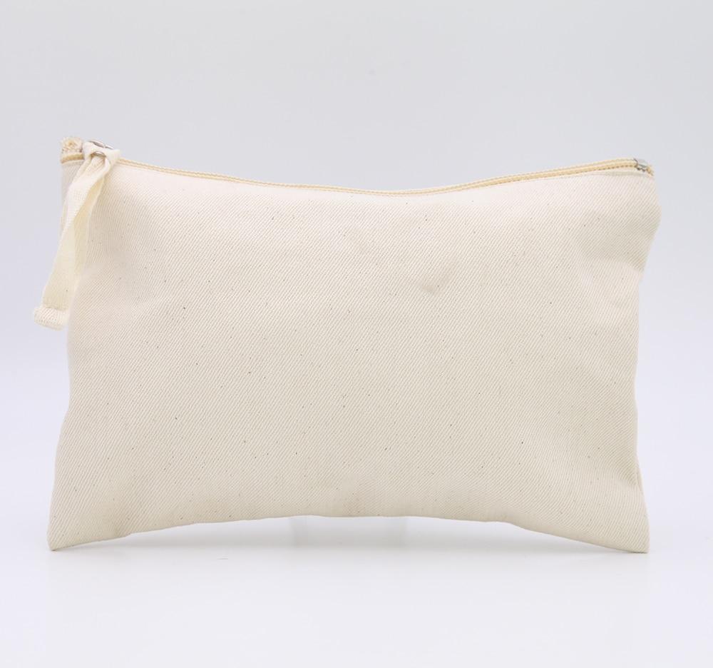 Online Oivefeet Plain Nature Cotton Canvas Travel Toiletry Bags Makeup Zipper Bag Pouch Cosmetic Aliexpress Mobile