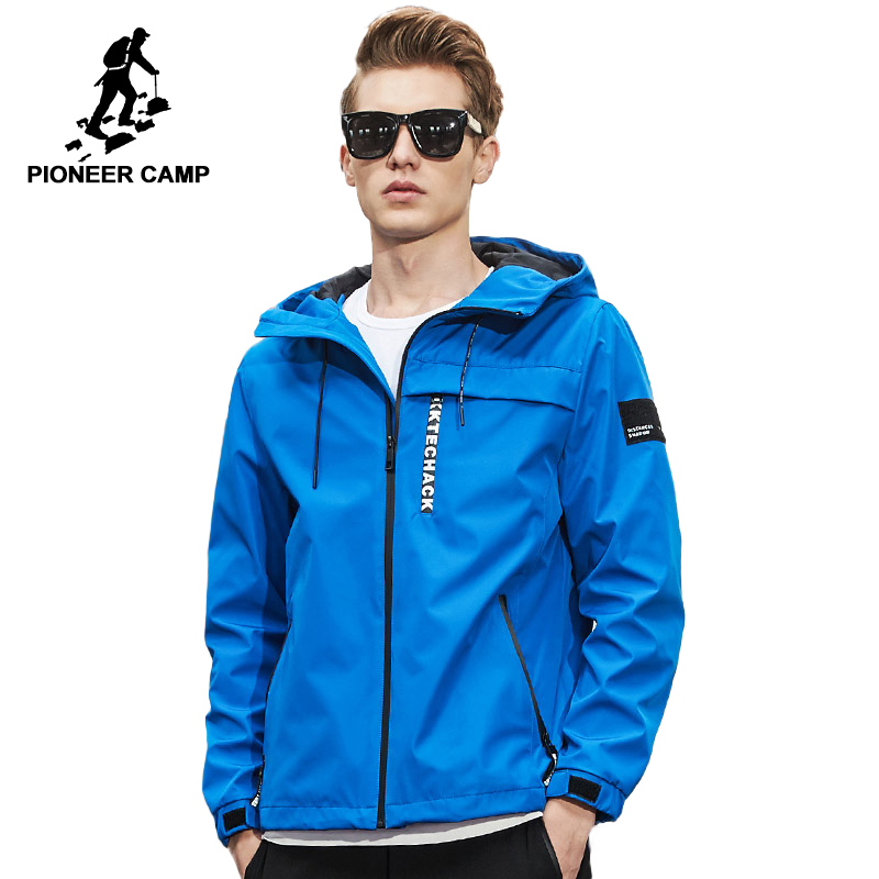 Пионерский лагерь Новинка весны куртка мужская брендовая одежда модная куртка с капюшоном пальто мужской наивысшего качества Повседневна...
