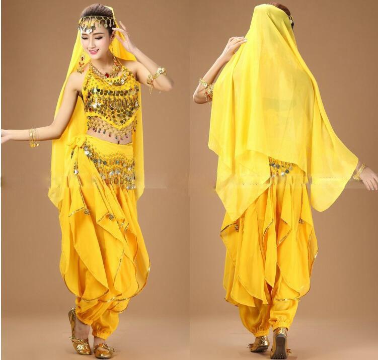 6 färger sexig Indien Egypten magdansdräkter kvinnor mage danskläder 2 st / 3 st / 4 st / 5 st / 7 st