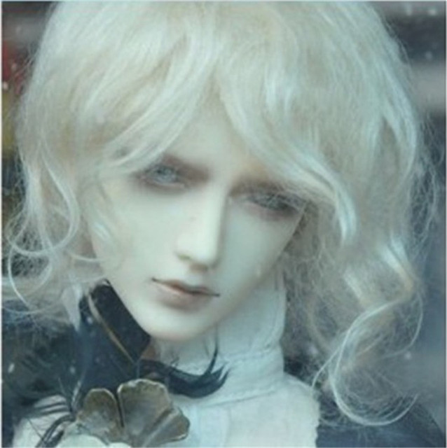 SD   Mohair Doll Wigs  1/3  Mid long curly  DZ doll wig Magic mohair hair for Vinyl doll   Porcelain doll hair