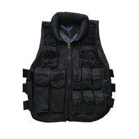 Men's Outdoor Hunting Military Army Tactical Training Waistcoat Air soft Body Armor Black CS Paintball Combat Swat Vest Colete