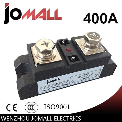 400A entrée 70-280VAC; sortie 24-480VAC industrielle SSR monophasé relais à semi-conducteurs ssr 400a