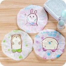 1Pcs Cute cartoon shower bath cap Waterproof Women Kids Shower Caps Colorful Bath hair protective  products