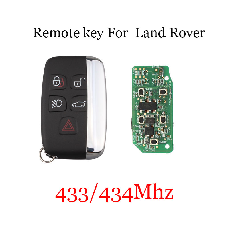 5Buttons Remote Key Suit 433/434Mhz for Land Rover Discovery 4 Freelander for Range Rover Sport Evoque Remote smart key Fob цена