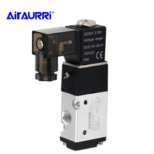 3 Way Pneumatic Air Solenoid Control Valve Alumium Body 3V110-06 12V 1/8