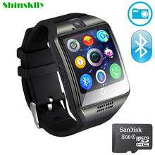 Smart Watch Men Women Q18 smartwatch With Camera Sync SMS Facebook Whatsapp Support SIM Card For IOS Android Phone watches phone