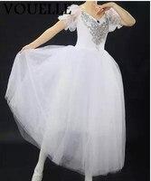 Ballet Skirt Adult Dress Up Women S Skirt Poncho Skirt Long Puff Sleeve Swan Dance Professional
