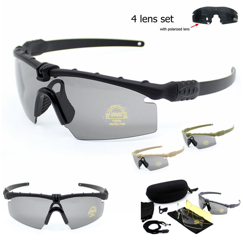 Army Protection Military Glasses Paintball Shooting Goggles Tactical Polarized Sunglasses Windproof UV400 Hiking Fishing Eyewear