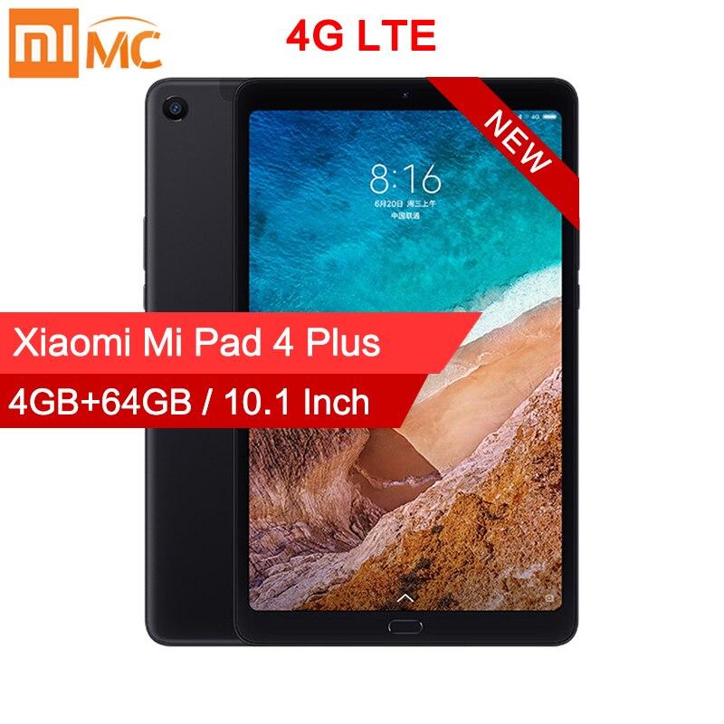 """Original Xiaomi Mi Pad 4 Plus PC Tablet 10.1"""" Snapdragon 660 Octa Core 1920x1200 13MP+5MP Cam 8620mAh 4G Tablets Android MiPad 4"""
