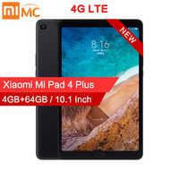 Original xiao mi almofada 4 plus pc tablet 10.1 snapdragon 660 octa núcleo 1920x1200 13mp + 5mp cam 8620 mah 4g tablets android mi almofada 4
