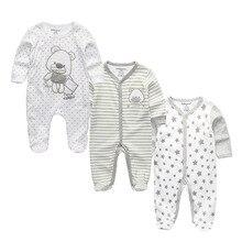 3 шт./партия хлопковая мягкая фланелевая одежда для сна для малышей Kawaii/Детские пижамы для мальчиков и девочек теплая одежда для маленьких мальчиков и девочек