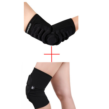 Elbow & Knee Pads Mountain Bike Cycling Protection Set Dancing Knee Brace Support MTB Downhill Tape Motorcycle Knee Protector