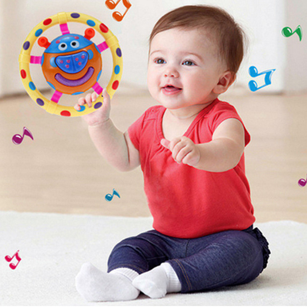 Baby Kids Sound Rattles Hand Bell Cute Cartoon Animal Ring Bell Cartoon Toys Intellectual development toy p# dropship