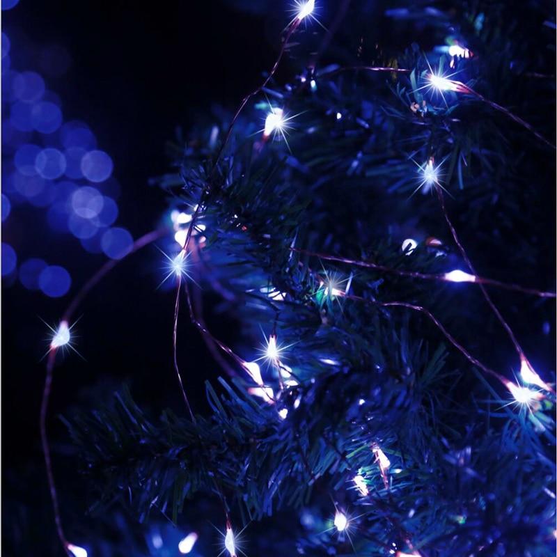 30M IR Remote LED Koppar Wire Novelty Lights String Vattentät - Festlig belysning - Foto 6