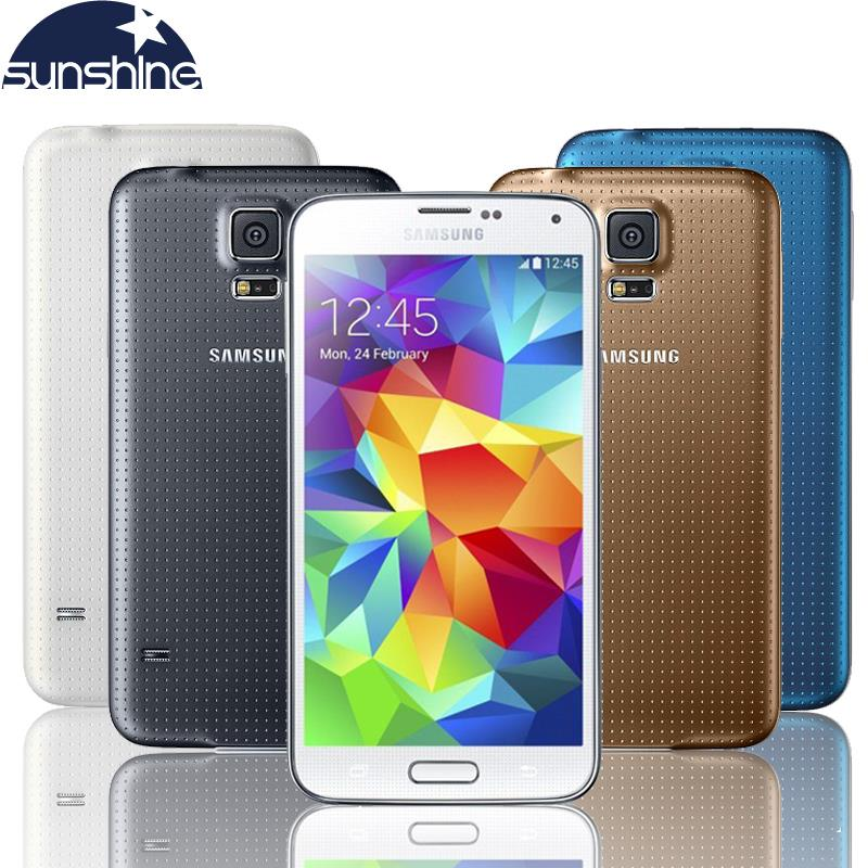 "Original Unlocked Samsung Galaxy S5 i9600 Mobile Phone 5.1"" Quad Core Refurbished Smartphone 16MP GPS NFC Cell Phones"
