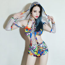 Club DJ Hip-hop Suit Women Bar Gogo Costume Night Dance ds Costumes new Stage(China)