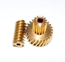 Gear D:15.9MM  0.6M-24T/14TRemote control toys steering miniature copper worm double gear+rod  combination gear box accessories 0 5m 20t worm gear high speed reduction ratio 1 20 remote control toys steering gear worm gear combination