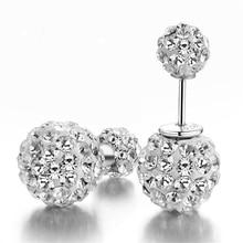 Brand silver earrings Shambhala luxury zirconia earrings female popular original brand of high-end vintage stud earrings Hot