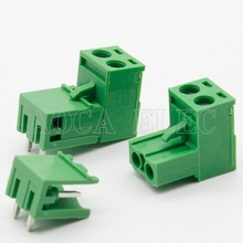 Free shipping 10 sets ht5.08 2pin Right angle Terminal plug type 300V 10A 5.08mm pitch connector pcb screw terminal block insurance block 10a