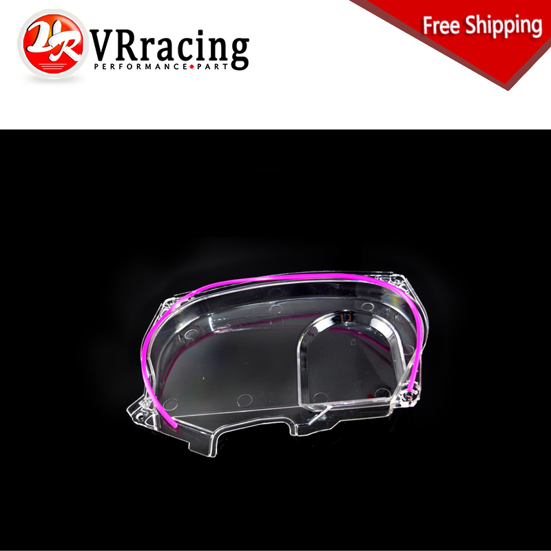 FREE SHIPPING Clear Cam Gear Timing Belt Cover Pulley NEW For Mitsubishi Lancer Evolution EVO 9 IX Mivec 4G63 VR6334 wlr racing hnbr racing timing belt aluminum cam gear clear cam cover for mitsubishi lancer evolution evo 9 ix mivec 4g63