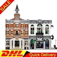LEPIN 15001 Brick Bank Lepin 15003 The Town Hall Model Building Street Sight Kits Blocks Bricks