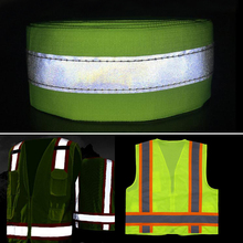 Fluorescent yellow/Fluorescent Orange Reflective Fabric Sew On safe clothing