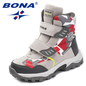 Image 4 - BONA New Popular Style Children Boots Hook & Loop Boys Winter Shoes Round Toe Girls Ankle Boots Comfortable Fast Free Shipping