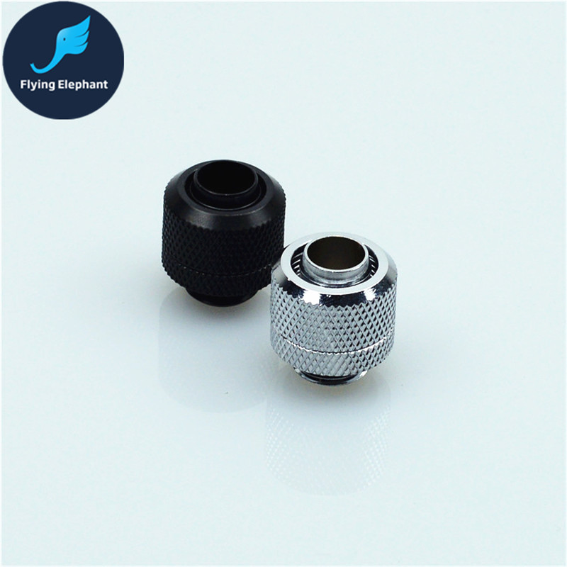 1 Piece Water Cooling Two-Touch hand compression Fitting Hand quick Twist Joint For 3/8'' PVC Tube 9.5x12.7mm computer cooling 1 piece g1 4 quick twist water cooling tube fitting connector for 3 8 1 4 9 5 12 7mm 8 12mm 9 5 15 9mm host