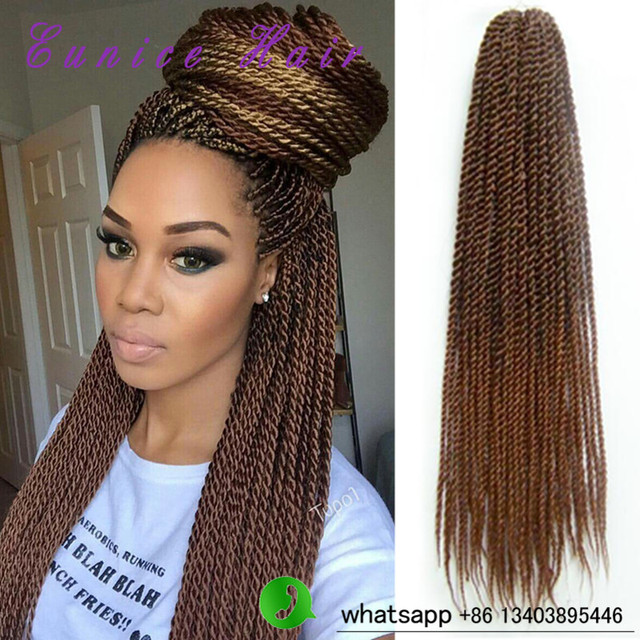 Crochet Hair Aliexpress : crochet braids ombre 22 Senegalese Twist Hair Kanekalon ombre Crochet ...