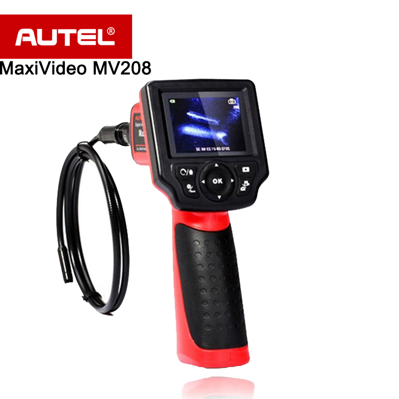 Autel MaxiVideo MV208 цифровой Videoscope 8.5 мм и 5.5 мм Диаметр изображений глав запись неподвижных изображений и видео и т. д.