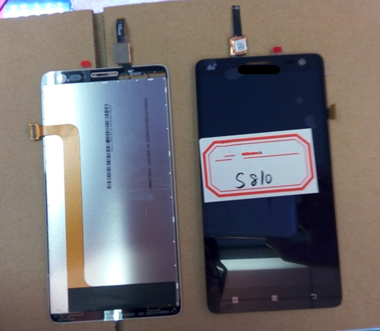 For Lenovo S810 LCD Display+Touch Screen panel Digitizer Accessories For Lenovo S856 S810t 5.5 Smartphone Free shipping+Track s810t lcd display touch screen panel with frame digitizer accessories for lenovo s810 5 5 smartphone free shipping track number