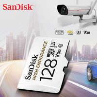 SanDisk haute ENDURANCE carte microSD 128 go U1 carte mémoire jusqu'à 100 mo/s 32 go 64 go 256 go classe 10 vitesse vidéo U3 V30 Full HD 4K