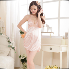Sexy Lingerie pink Sexy costumes pajamas split women lace underwear sex products slips sex toy Halter Erotic intimates 1878