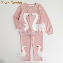 Bear Leader Winter Girls Clothing Sets New Active Boys Clothing Sets Children Clothing Cartoon Print Sweatshirts+Pants Suit