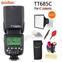 Godox TT685C Speedlite TTL HSS Sync External Flash For Canon 1100D 1000D 7D 6D 60D 50D 600D 500D EOS 5D2 5D3 650D 700D + GIFT