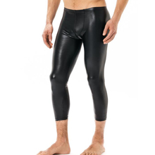 Thermal Leather Sexy Stretch Mens Leggings Pants Faux Fitness PVC Winter Underpants Clothes Men